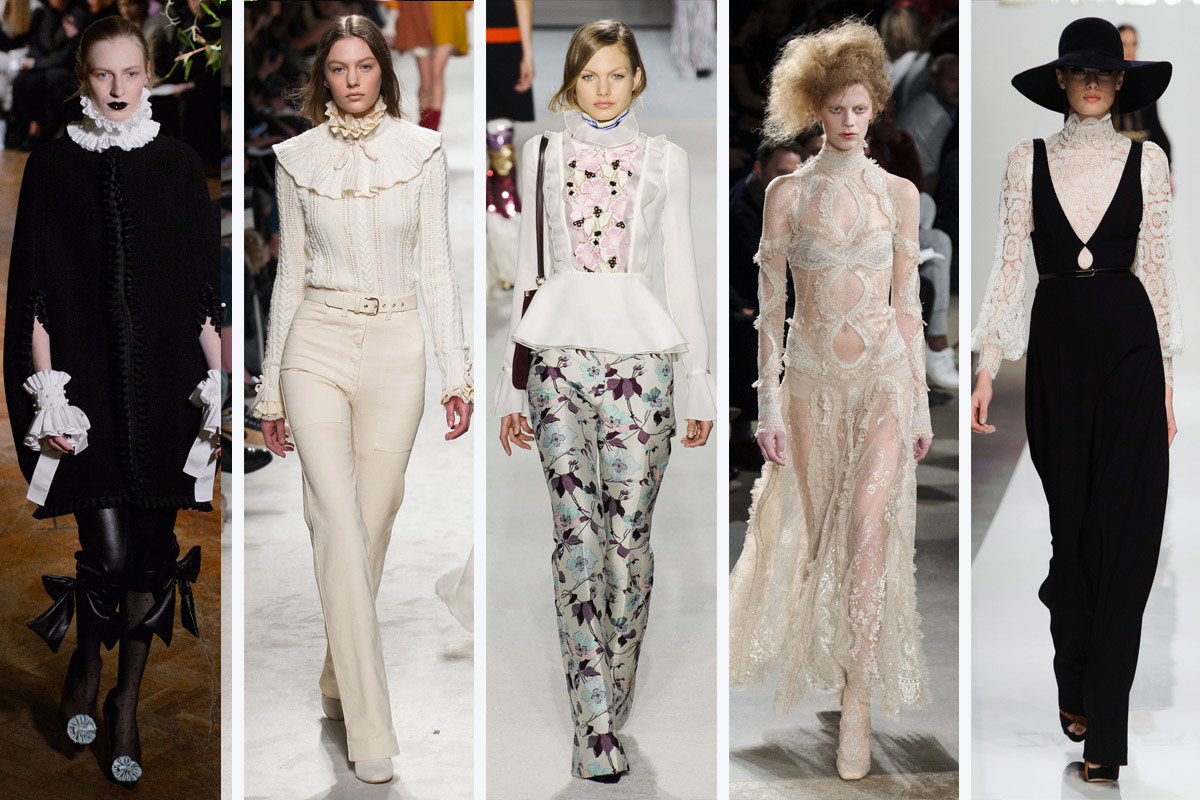 From left to right: Giles, Philosophy Di Lorenzo Serafini, Giambattista Valli, Alexander McQueen and Zimmernan. Photos: Imaxtree