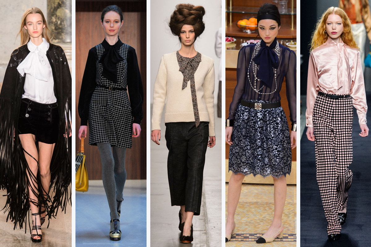 From left to right: Emilio Pucci, Orla Kiely, A Detacher, Chanel and Bottega Veneta. Photos: Imaxtree