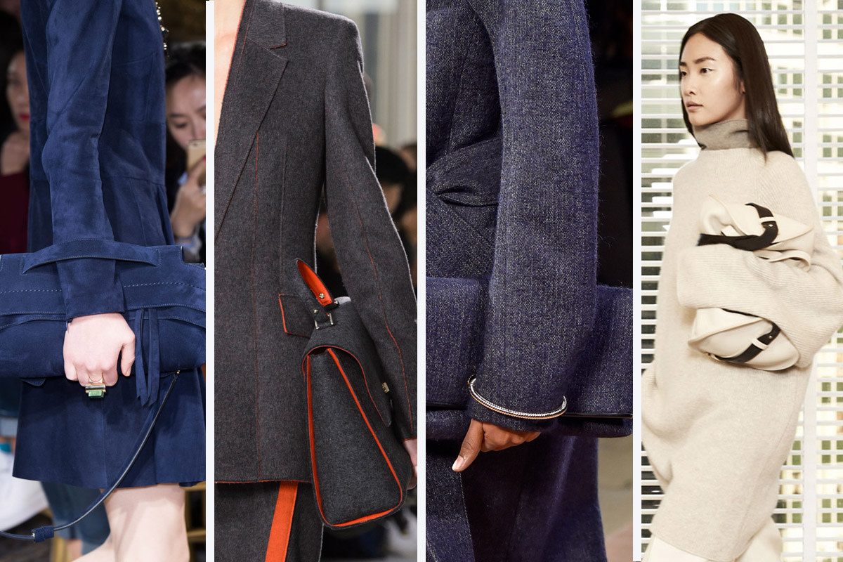 From left to right: Tod's, Boss, Victoria Beckham and The Row. Photos: Imaxtree