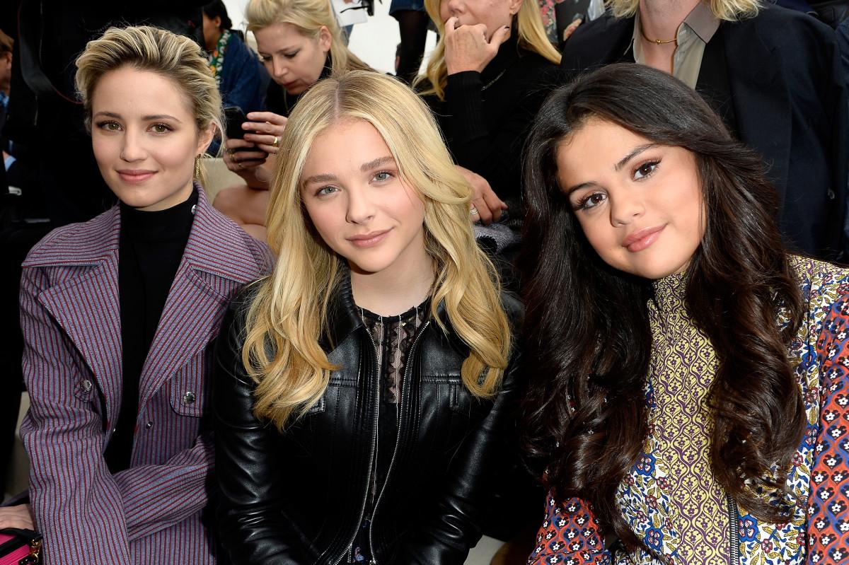 Dianna Agron, Chloe Grace Moretz and Selena Gomez. Photo: Pascal Le Segretain/Getty Images