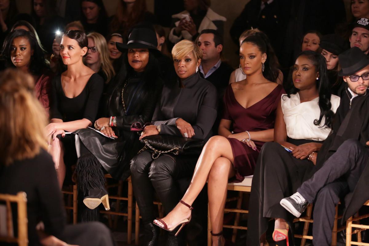 Uzo Aduba, Katie Holmes, Mary J. Blige, Rihanna. Photo: Chelsea Lauren/Getty Images