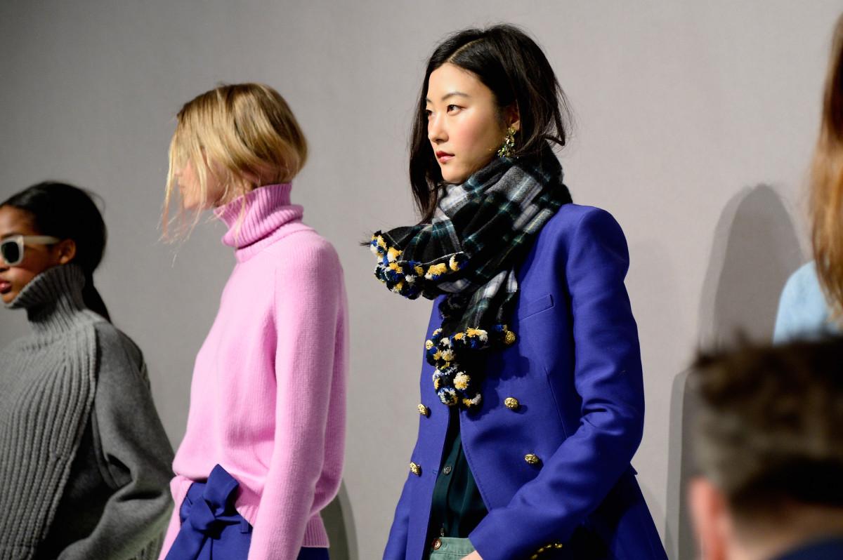 J.Crew's fall 2015 presentation during New York Fashion Week. Photo: Fernanda Calfat/Getty Images