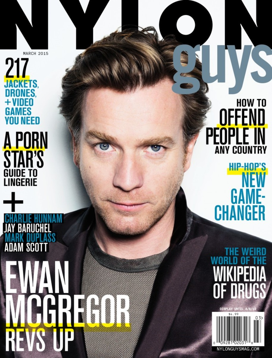 Ewan McGreggor on the March cover of 'Nylon Guys.' Photo: Nylon