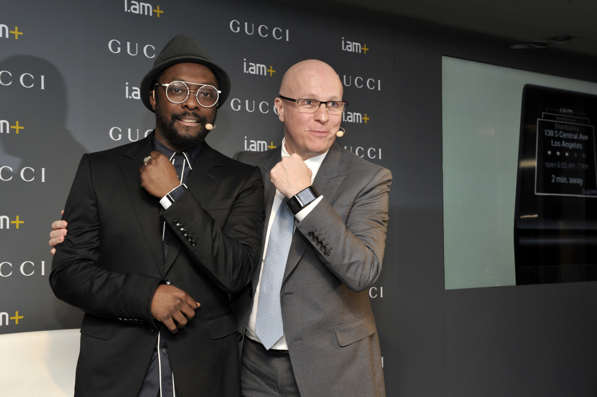 Will.i.am and Stephane Linder, the president and CEO of Gucci Timepieces.