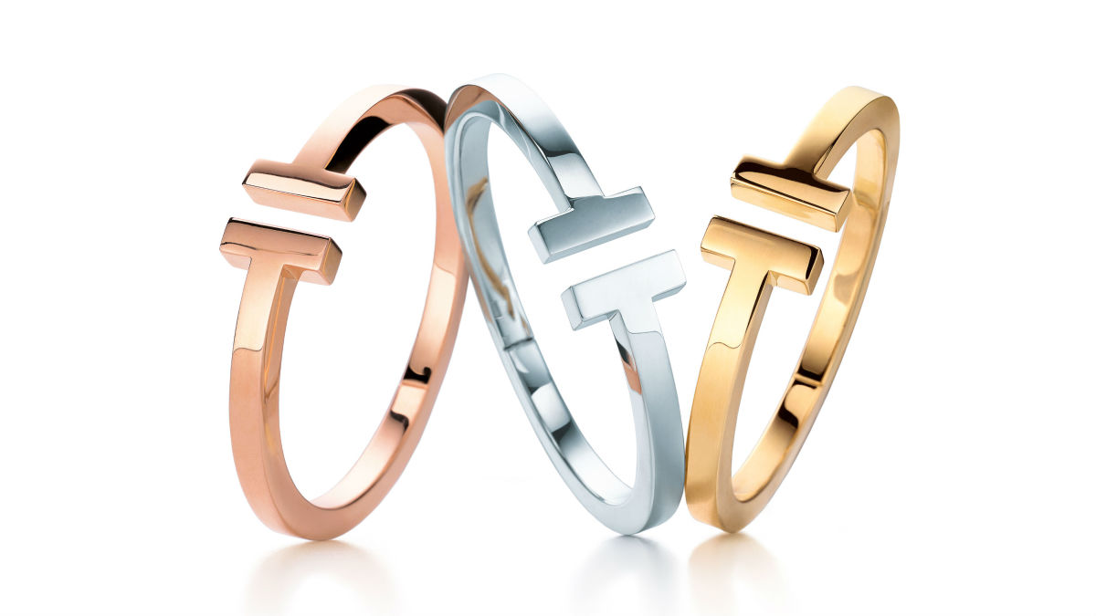 Pieces from the Tiffany T collection. Photo: Tiffany & Co.