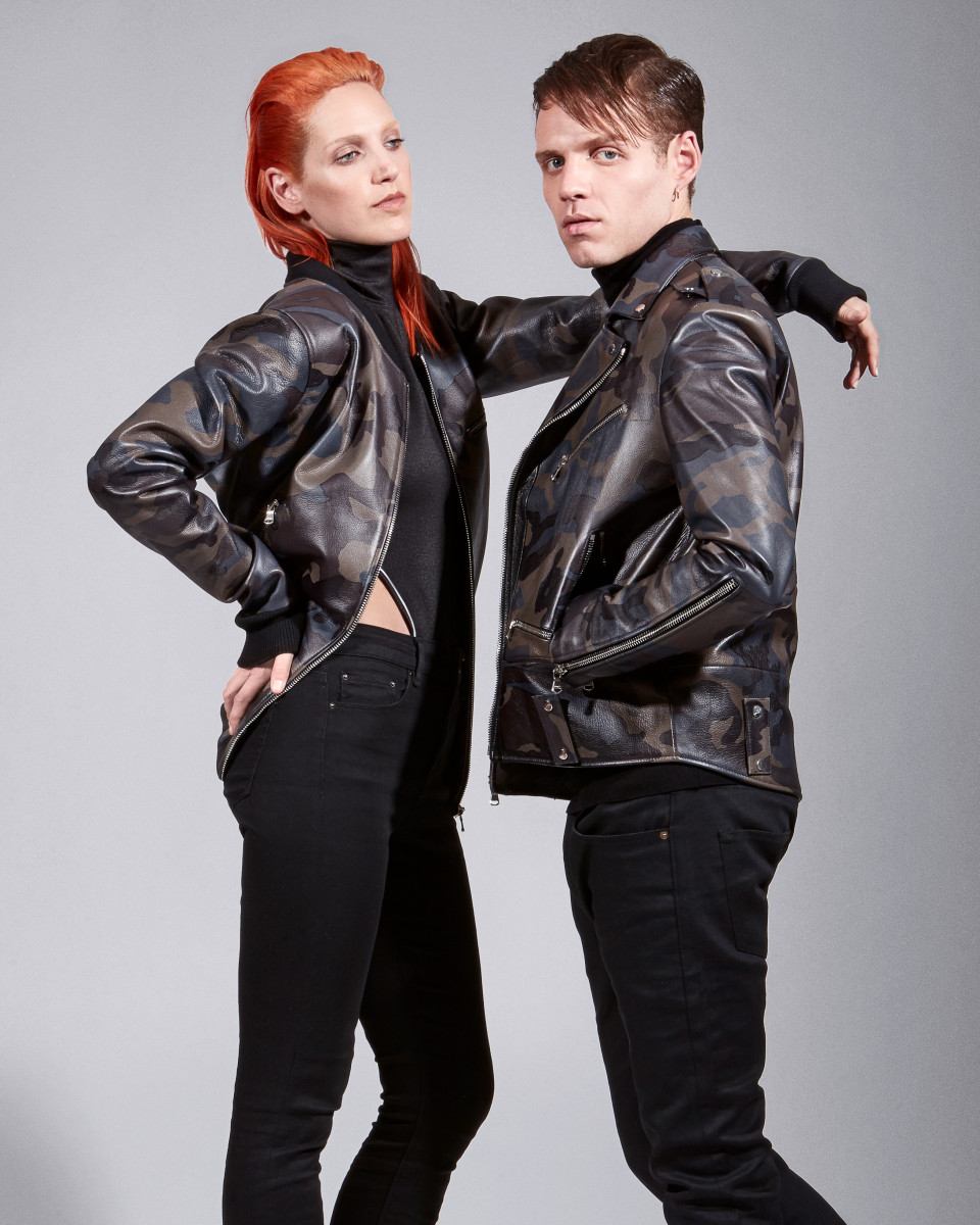 Lizzy Plapinger and Max Hershenow of MS MR in the Pyer Moss fall 2015 look book. Photo: Pyer Moss