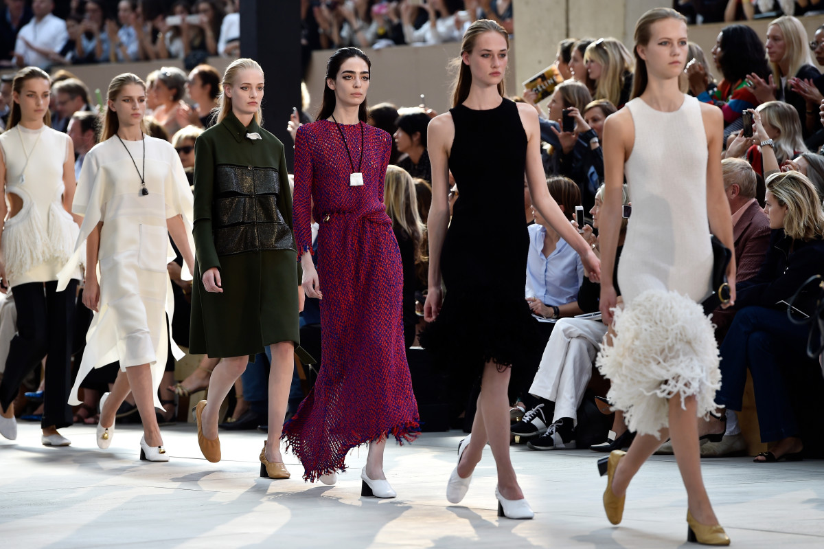 Céline's spring 2015 show. Photo: Pascal le Segretain/Getty Images