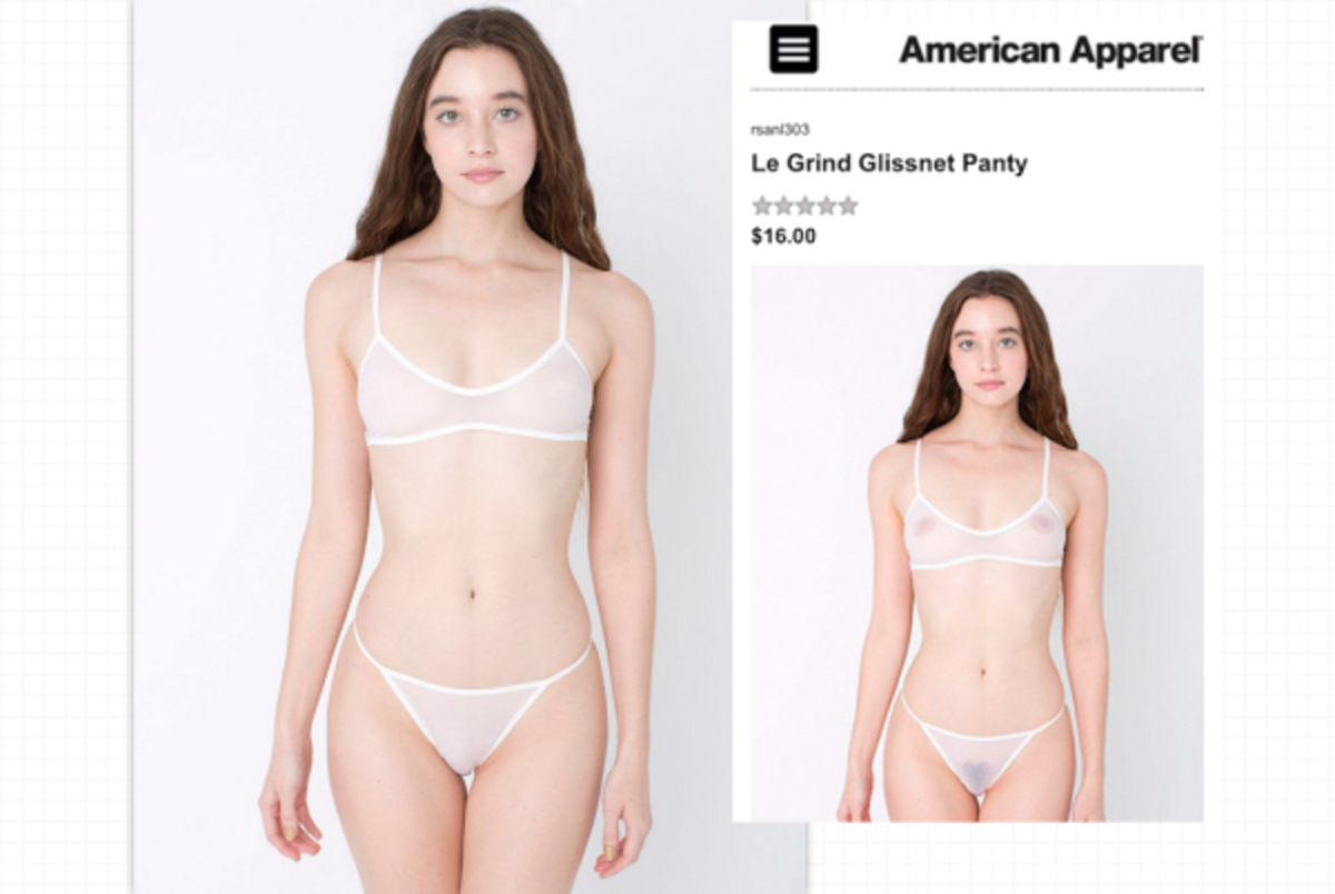 Now and then. Photos: American Apparel. Composite c/o 'Animal'