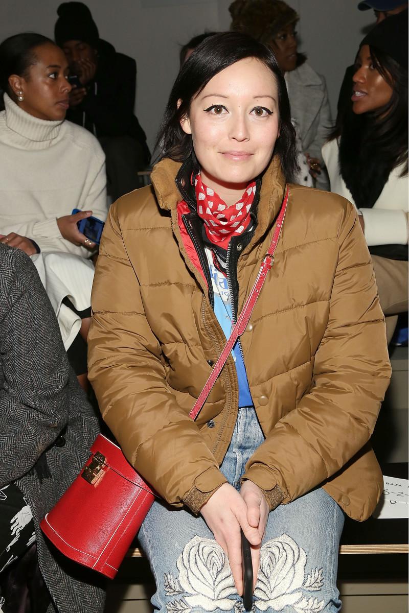 Rachael Wang at New York Fashion Week in February 2015. Photo: Mireya Acierto/Getty Images