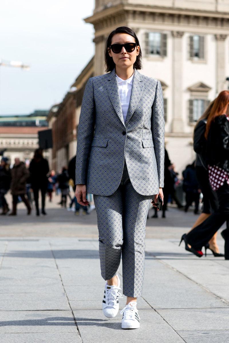 Rachael Wang at Milan Fashion Week in February 2015. Photo: Imaxtree