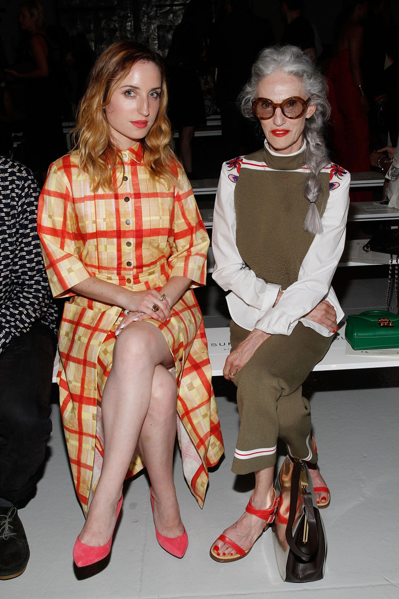 Linda Rodin, at right. Photo: Mireya Acierto/Getty Images