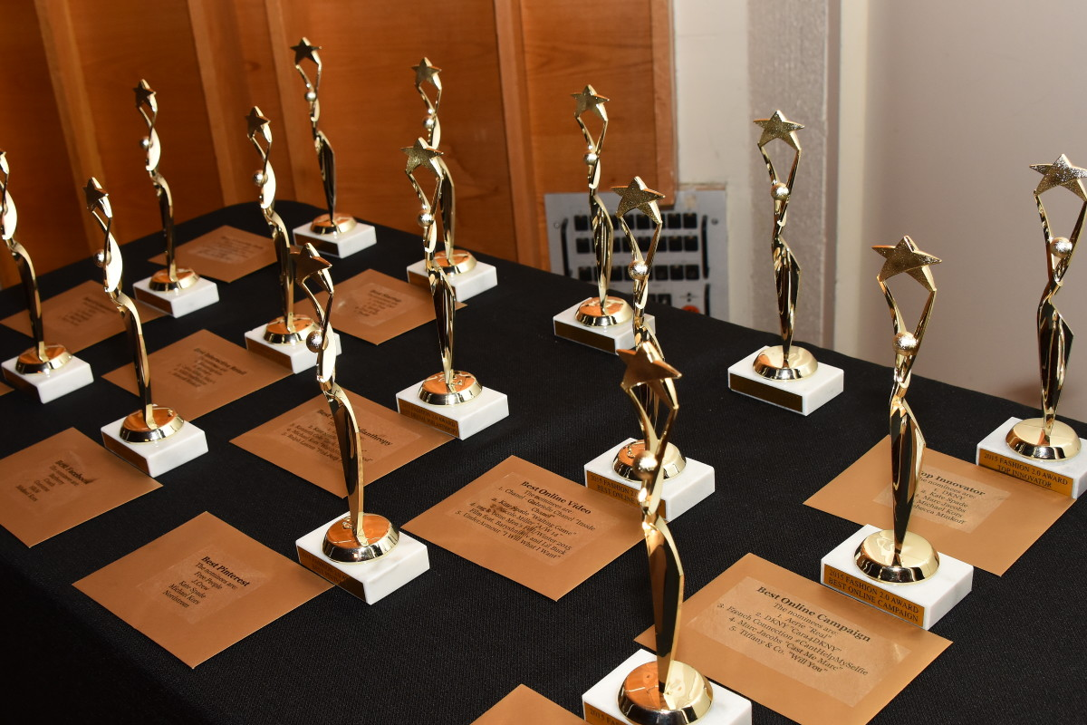 The awards before being given out. Photo: The Style Coalition