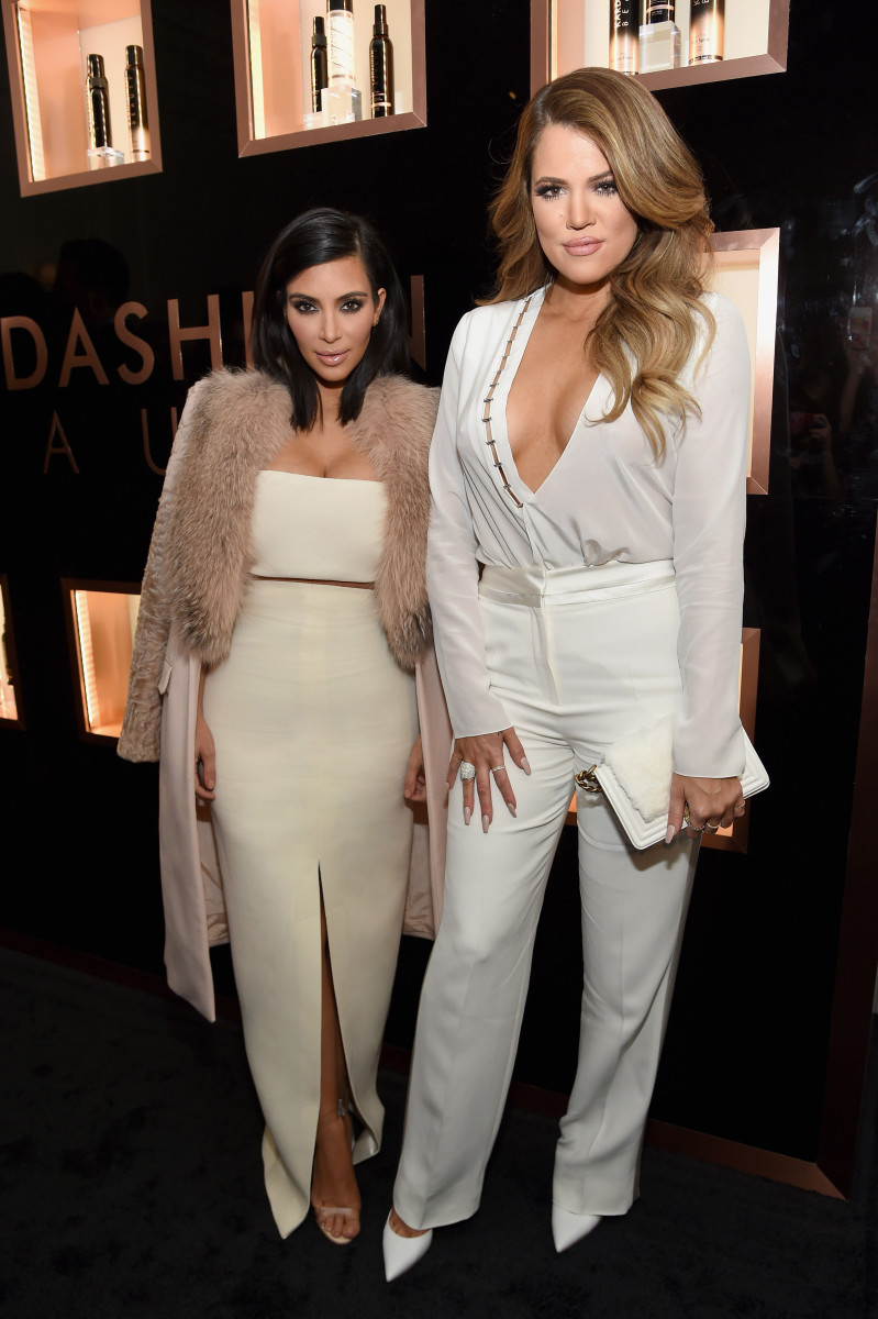 Bossladies Kim and Khloe. Photo: Jamie McCarthy/WireImage for Kardashian Beauty/Getty Images