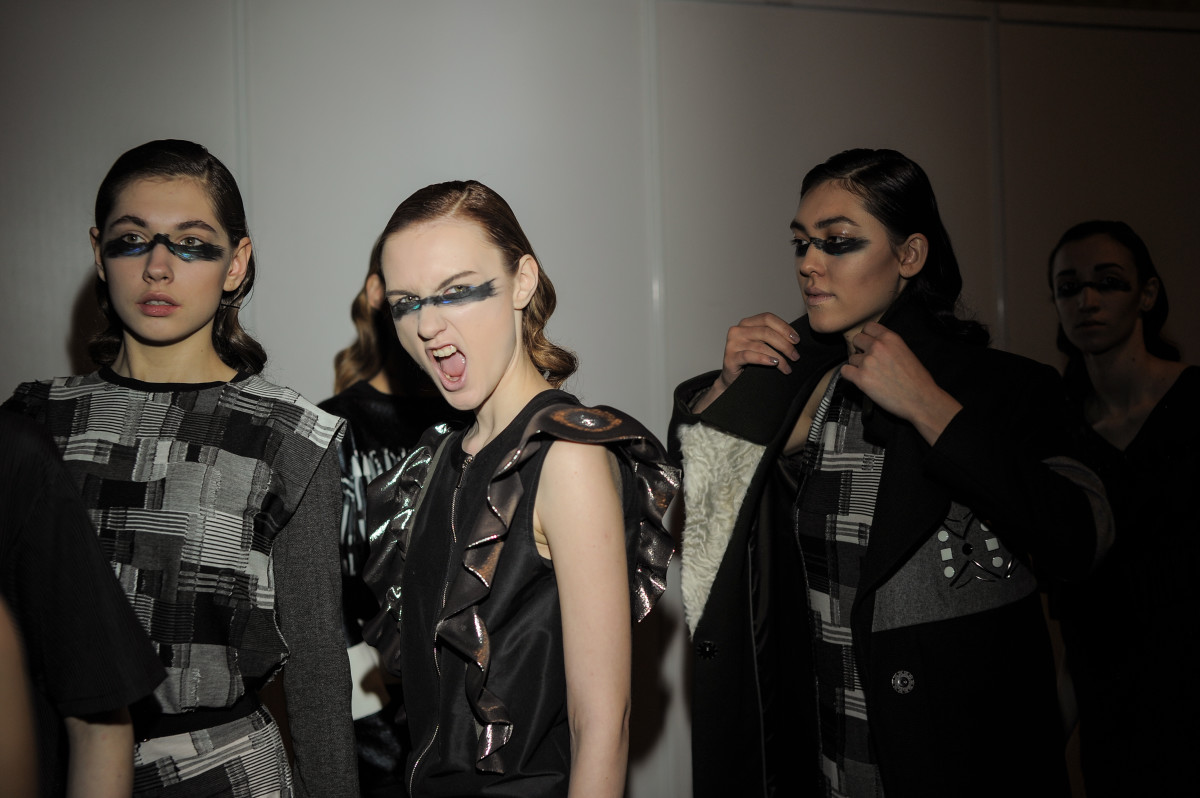 Backstage at Saint-Tokyo. Photo: Mercedes Benz Fashion Week Russia