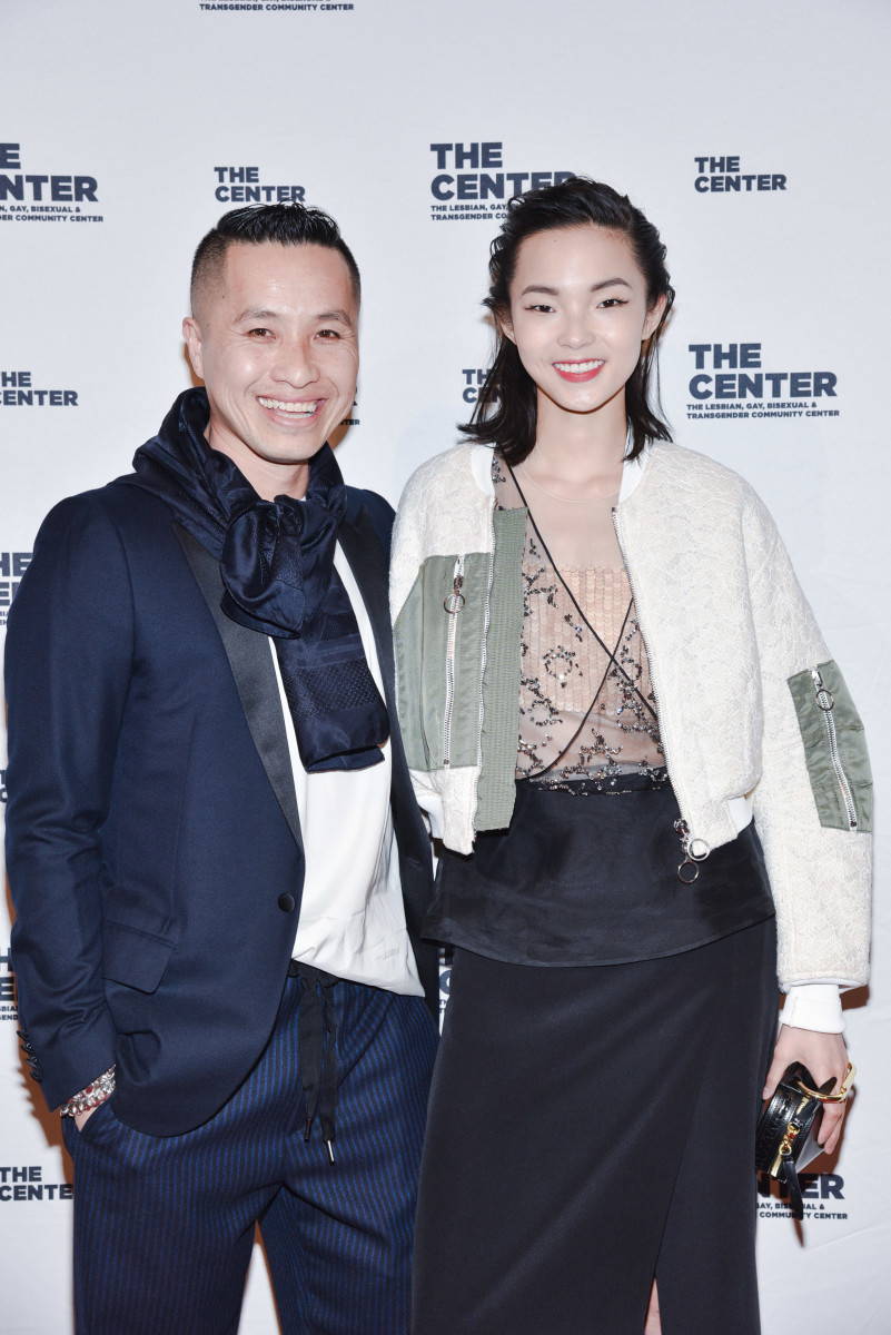 Phillip Lim and model Xiao Wen Ju at The Center dinner. Photo: Sean Zanni/Patrick McMullan Co.