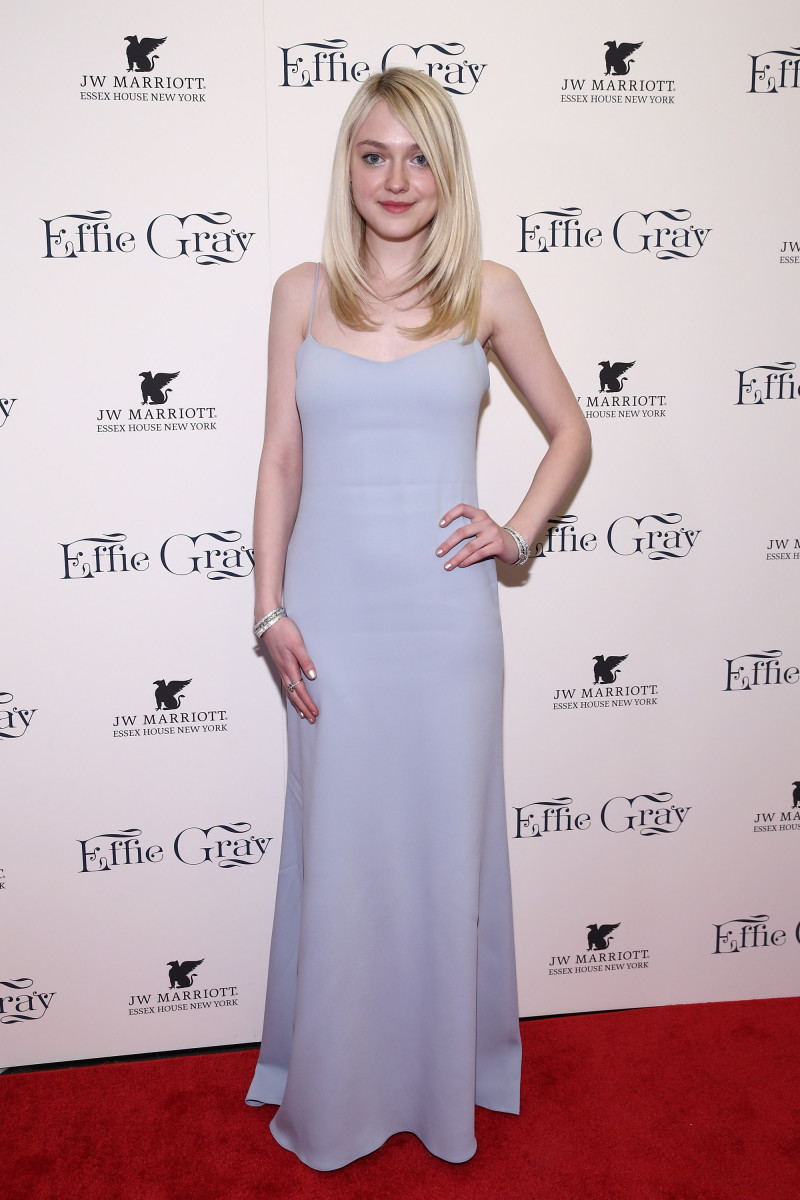 Dakota Fanning in Wes Gordon. Photo: Neilson Barnard/Getty Images