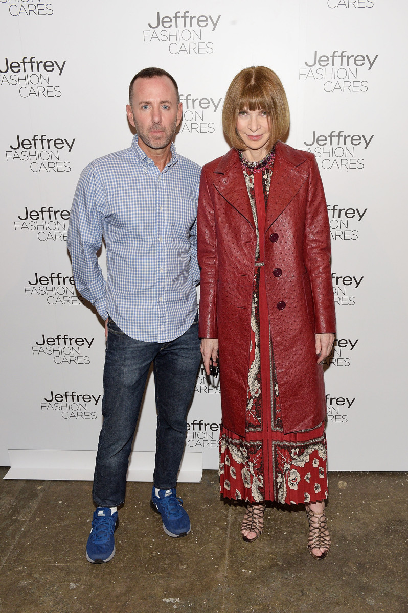 Jeffrey Kalinsky and Anna Wintour at Jeffrey Fashion Cares in April. Photo: Grant Lamos IV/Getty Images