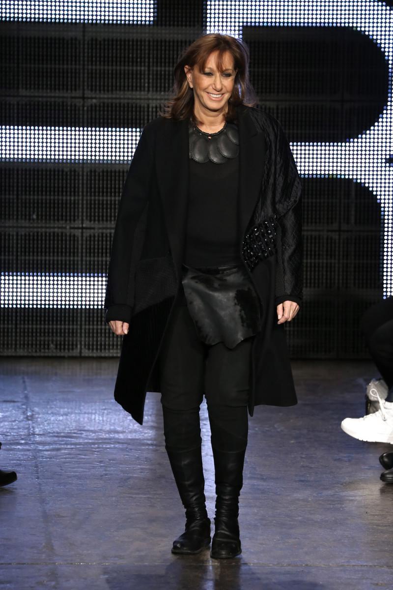 Donna Karan at DKNY's fall 2015 runway show. Photo: Neilson Barnard/Getty Images