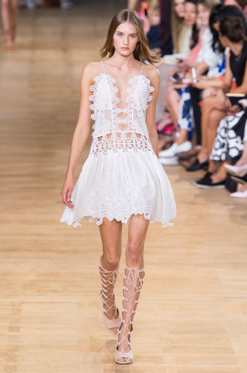 A look from Chloé's spring 2015 collection. Photo: Imaxtree