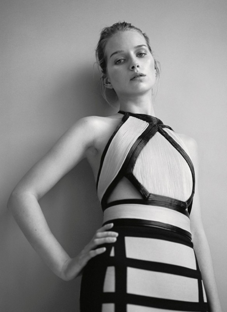 Lottie Moss wearing Balmain. Photo: Jamie Morgan for 'Dazed'