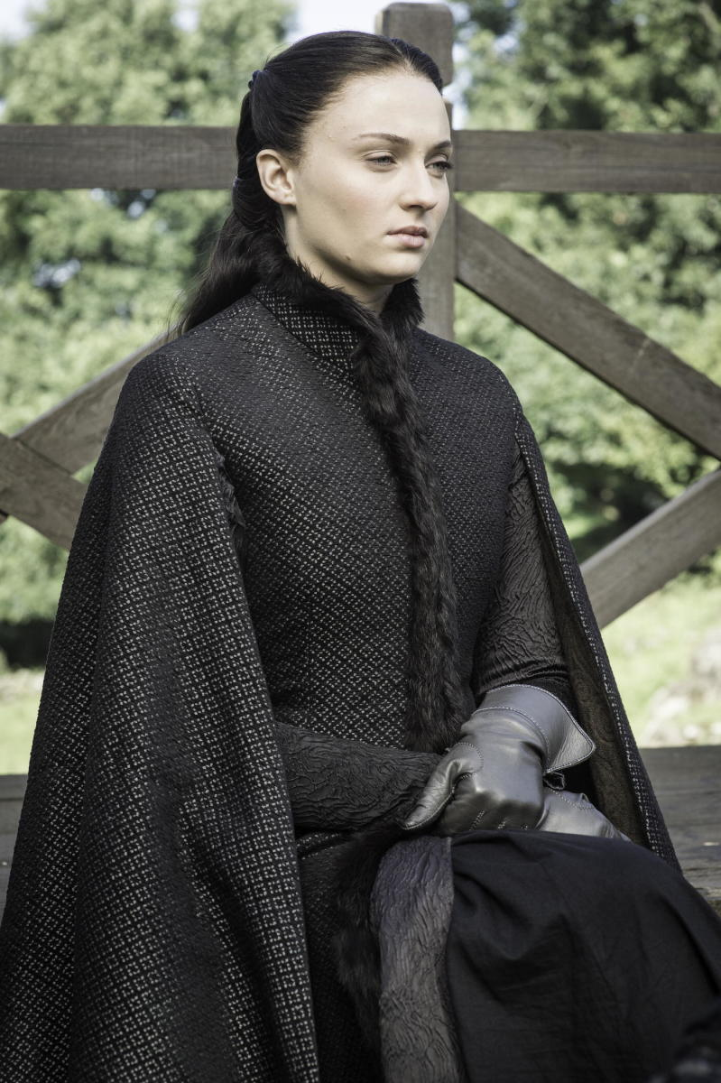 Sansa, brooding brunette. Photo: Helen Sloan/HBO