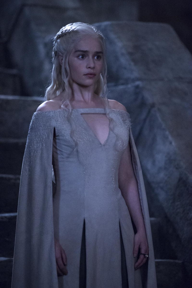 Daenerys visiting the dragons in a dungeon. Photo: Macall B. Polay/HBO