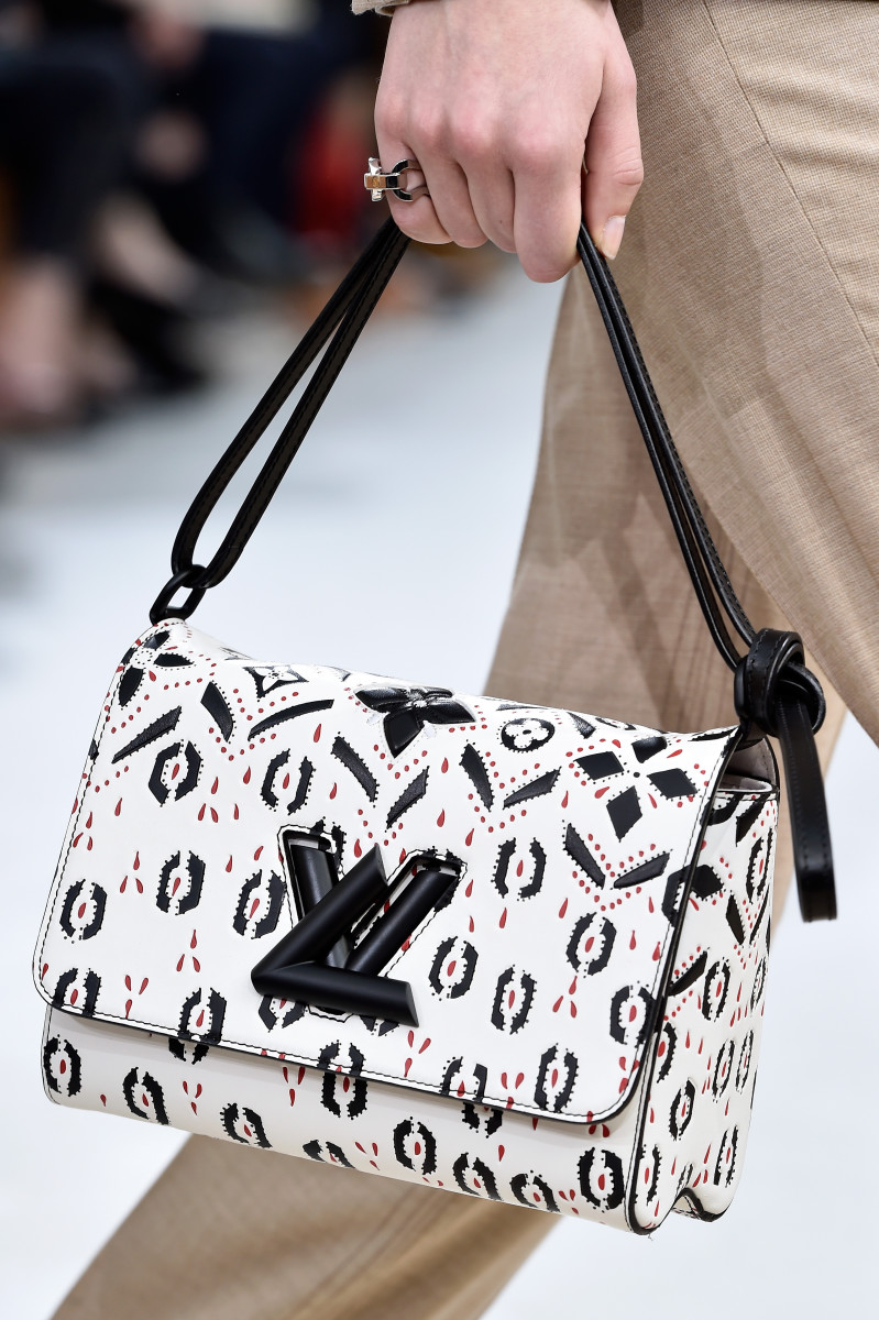 A detail shot from Louis Vuitton's fall 2015 runway show. Photo:Pascal Le Segretain/Getty Images