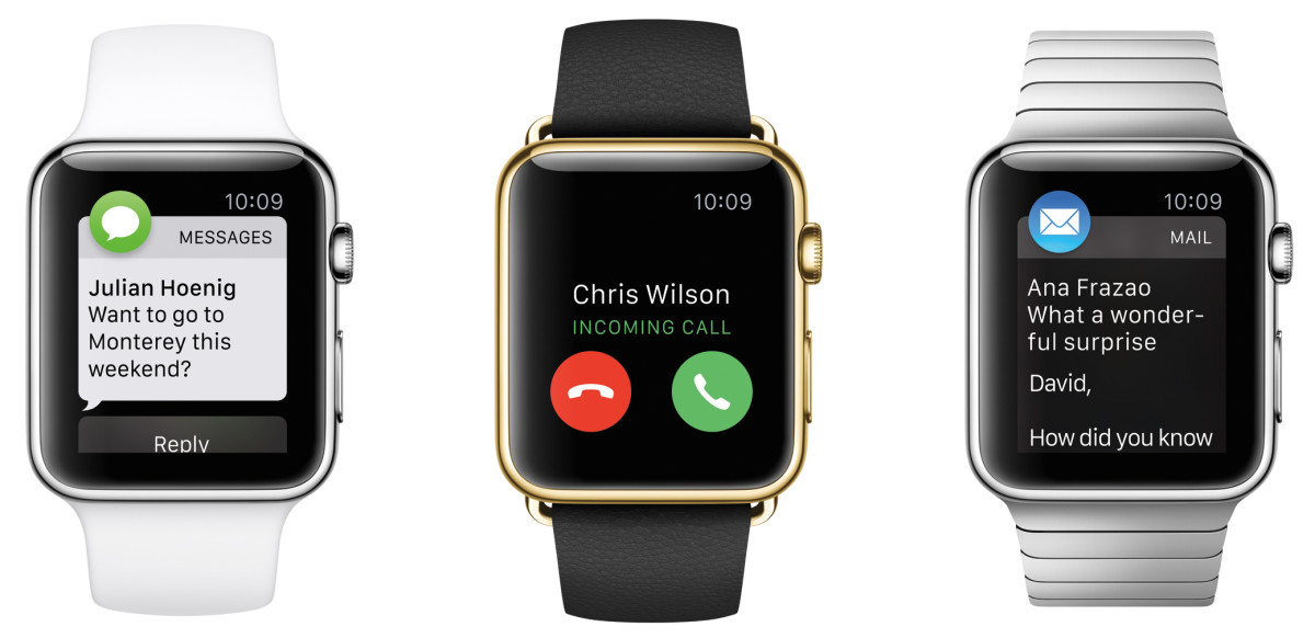 The Apple Watch Sport, Apple Watch Edition and Apple Watch. Photo: Apple