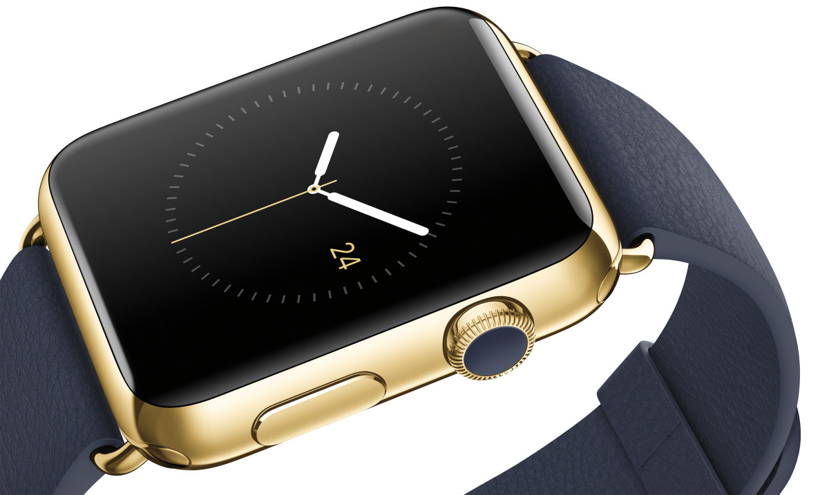 "Apple's 18-karat gold ""Edition"" smartwatch. Photo: Apple"