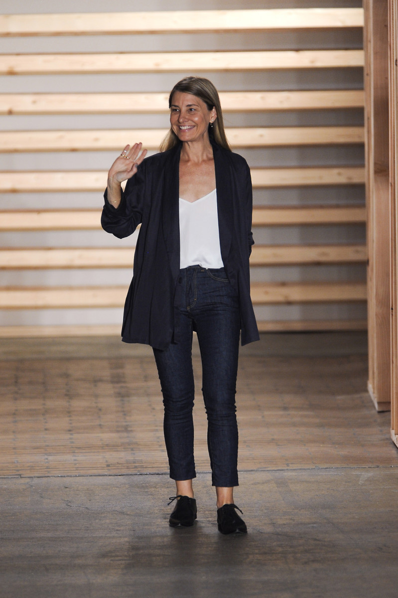 Tibi founder and designer Amy Smilovic at her spring 2015 runway show. Photo: Imaxtree