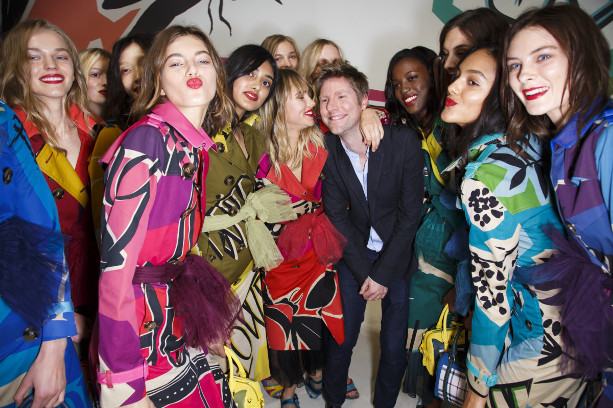 Burberry CEO and creative director Christopher Bailey backstage before the brand's spring show. Photo: Imaxtree