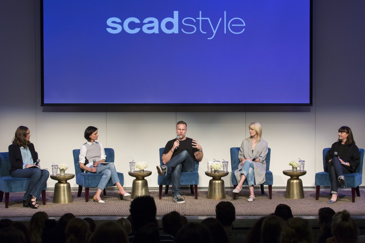 Florence Kane, Jane Bishop, Scott Morrison, Jacqueline Cameron and Kara Nicholas at SCAD on Tuesday, talking about all things denim. Photo: SCAD