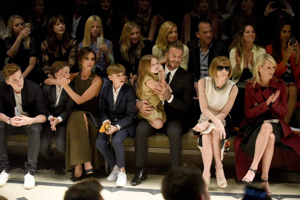 The Beckham family and Anna Wintour. Photo: Burberry