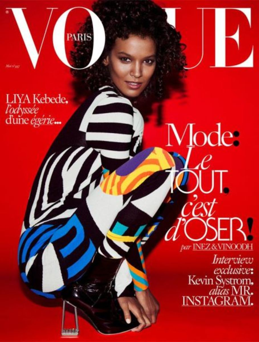 The gorgeous Liya Kebede on 'Vogue' Paris. Photo: Inez & Vinoodh