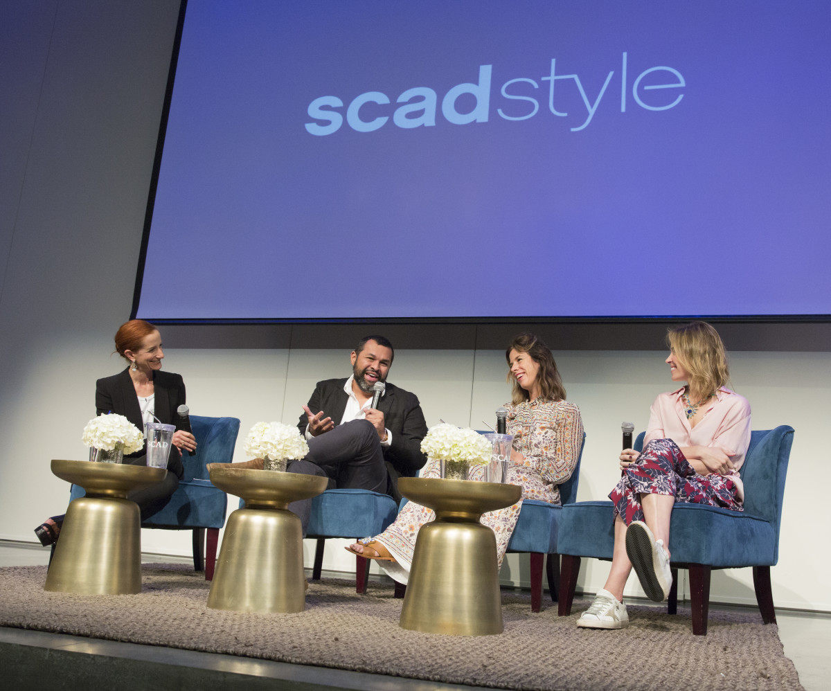 Vanessa Friedman, Juan Carlos Obando, Irene Neuwirth and Brett Heyman on stage at SCADstyle. Photo: SCAD