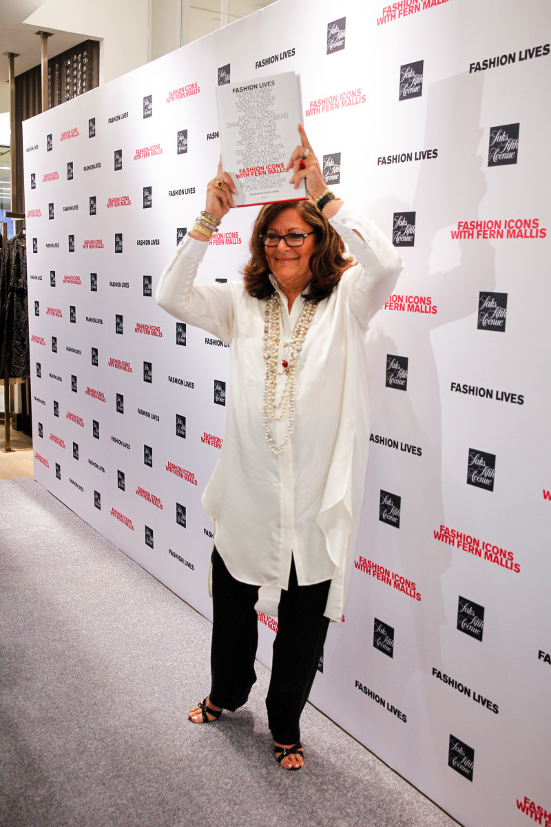 Fern Mallis poses for the cameras at her book party on Monday night. Photo: Thomas Concordia/Getty Images