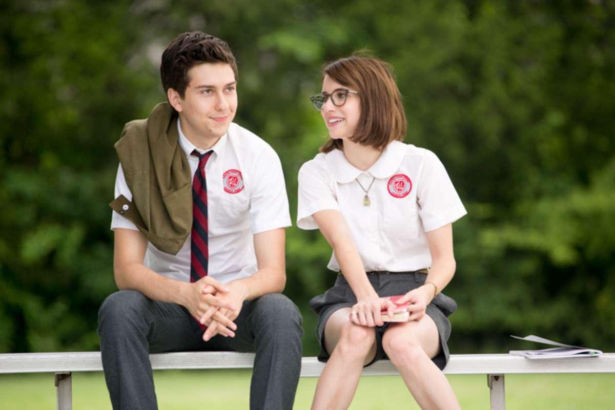 "Nat Wolff and Emma Roberts as high school misfits Ed and Eloise in ""Ashby."" Photo: Peter Taylor"
