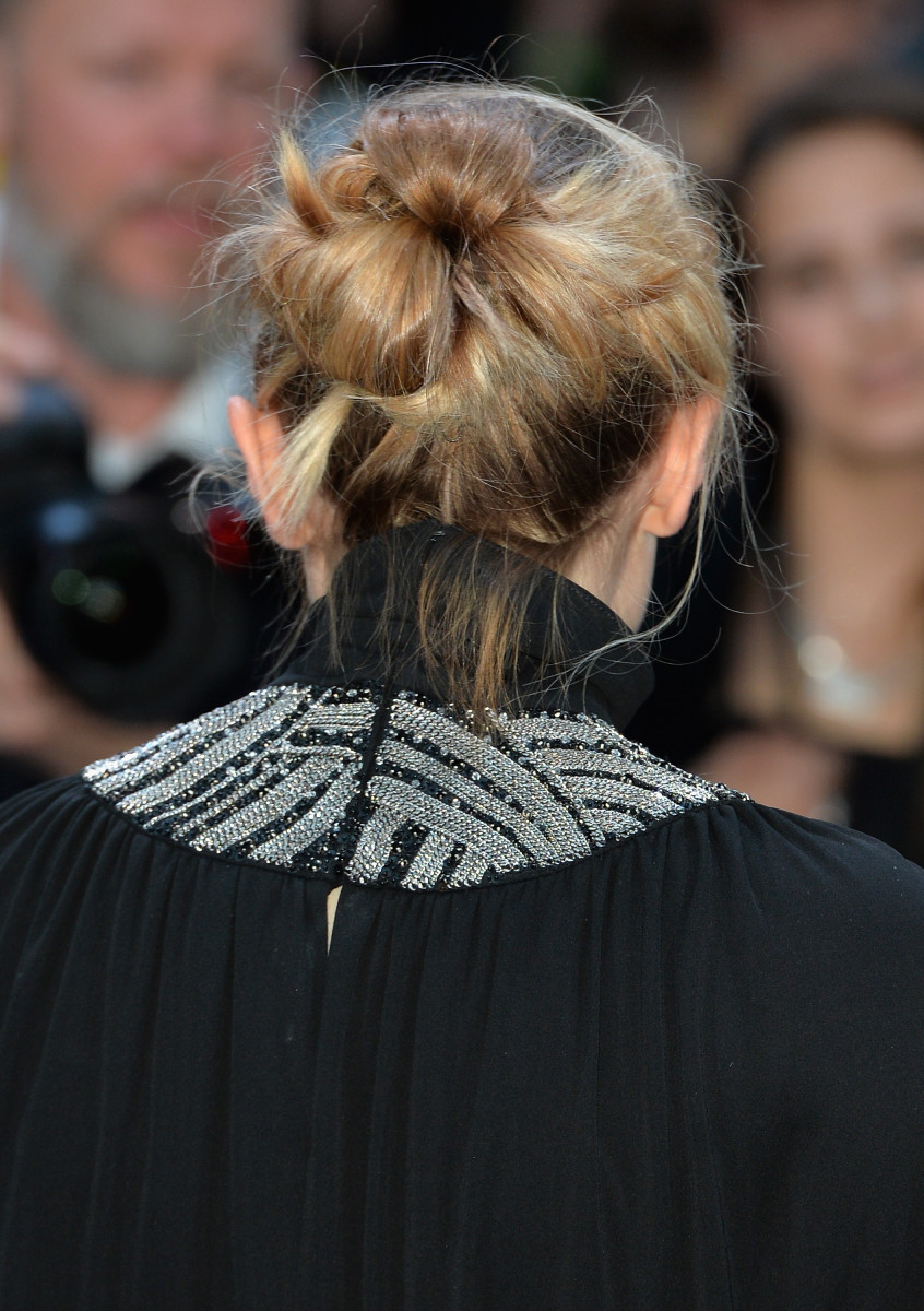 Magical messy bun. Photo: Anthony Harvey/Getty Images