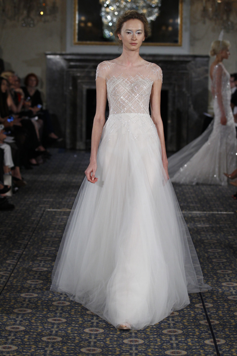 A look from the Mira Zwillinger spring 2016 bridal collection. Photo: Mira Zwillinger