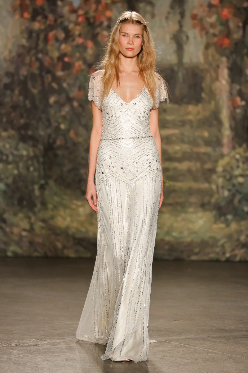A look from the Jenny Packham spring 2016 bridal collection. Photo: Thomas Concordia/Getty Images