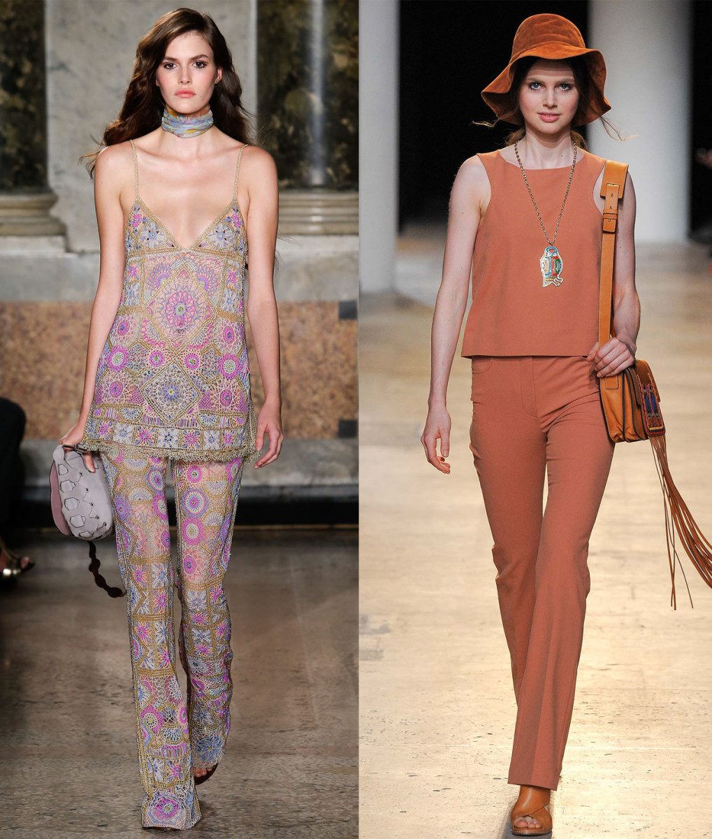 Emilio Pucci spring 2015 and Paul & Joe spring 2015. Photos: Imaxtree