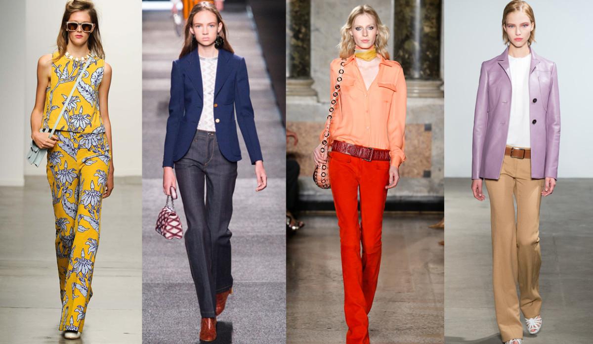 From left to right: Karen Walker spring 2015, Louis Vuitton spring 2015, Emilio Pucci spring 2015, Derek Lam spring 2015. Photos: Imaxtree