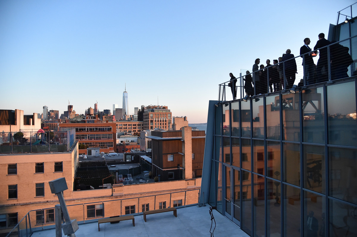 A view of downtown from the new Whitney Museum. Photo: Mike Coppola/Getty Images