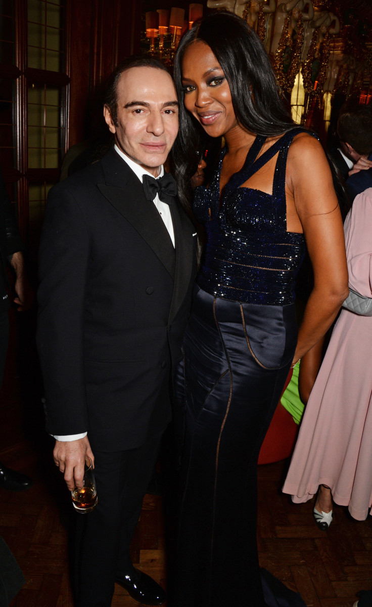 John Galliano and Naomi Campbell at an event in December. Photo: David M. Benett/Getty Images