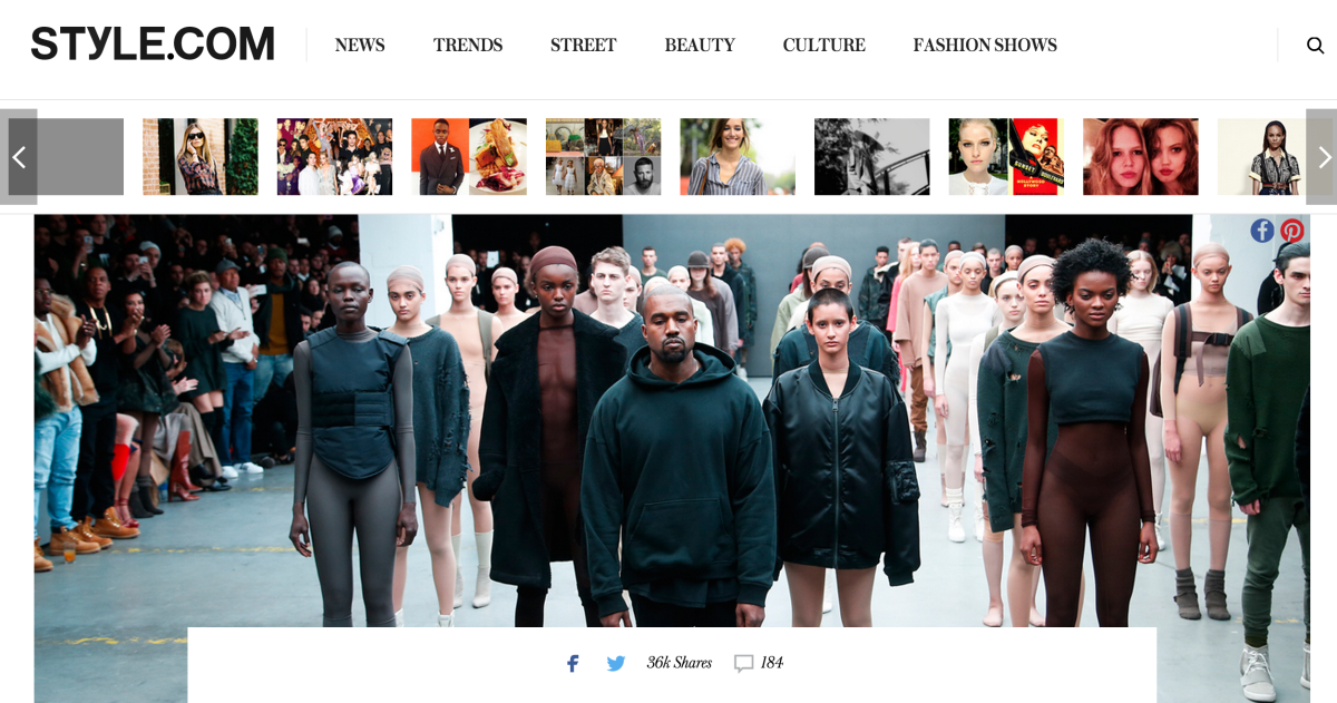 Screengrab: Style.com