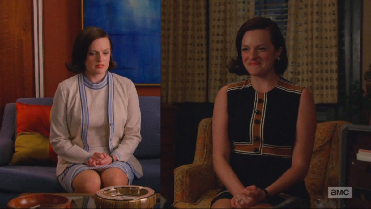 Peggy contemplates her future amid Sterling Cooper's demise. Screengrab: AMC