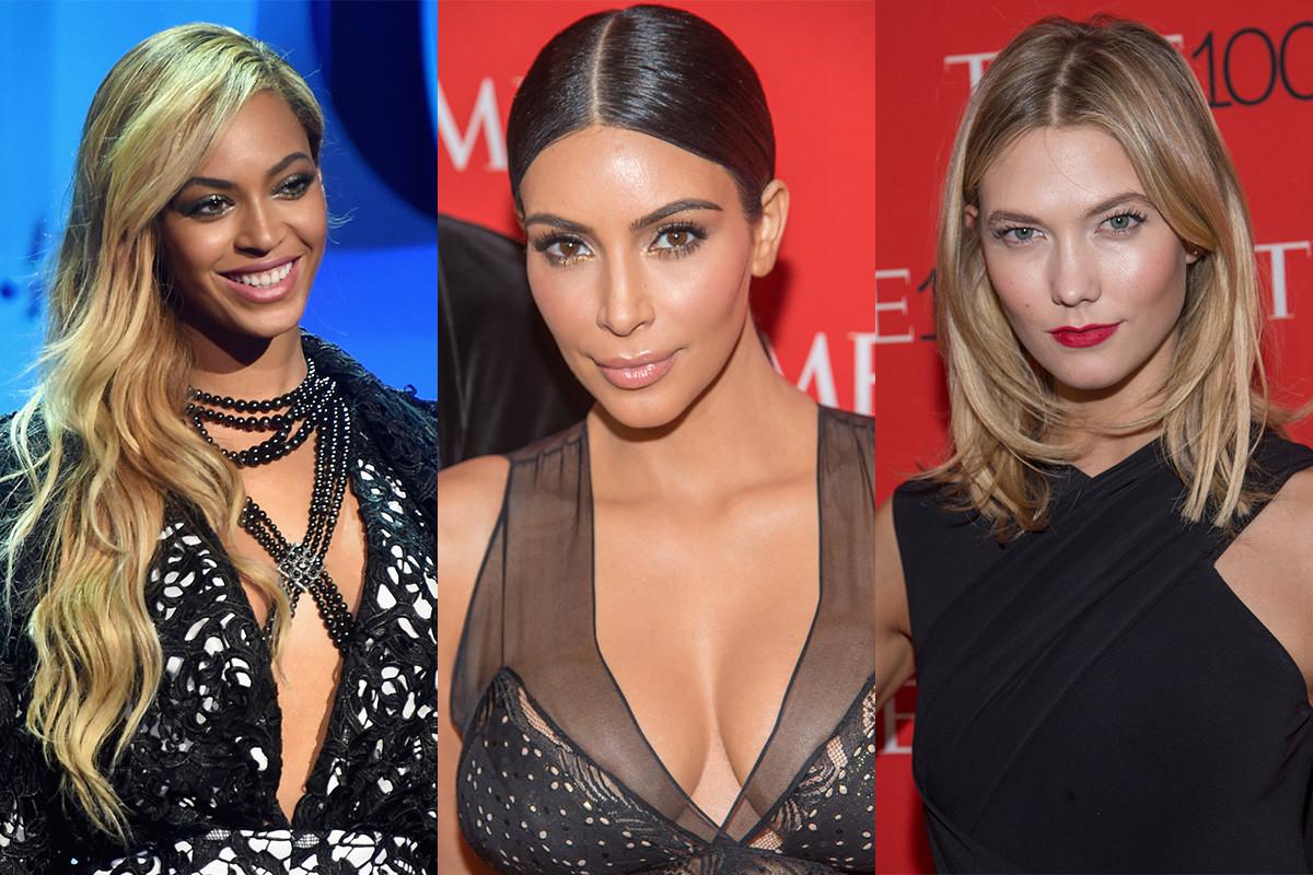 Beyoncé, Kim Kardashian and Karlie Kloss. Photos: Jamie McCarthy & Mark Salgiocco/Getty Images