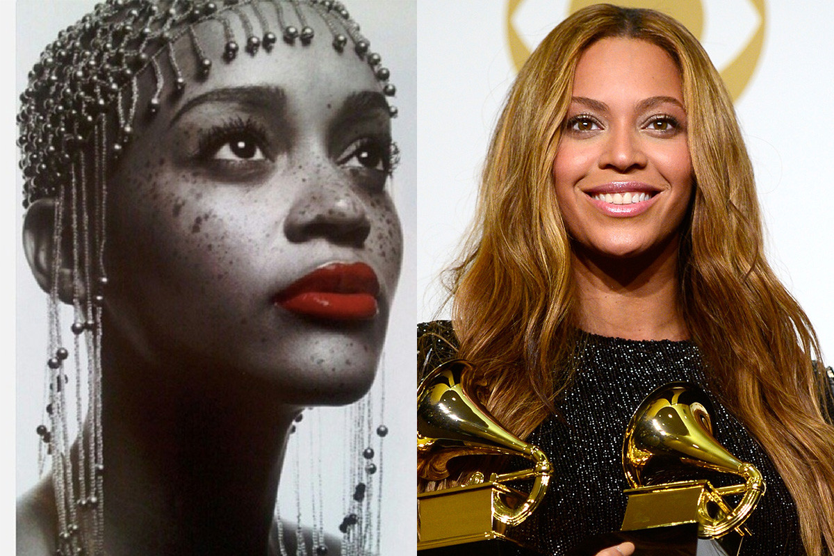 Noni Gasa and Beyoncé. Photos: @envirizanacho_nachohairlove/Instagram and Frazer Harrison/Getty Images