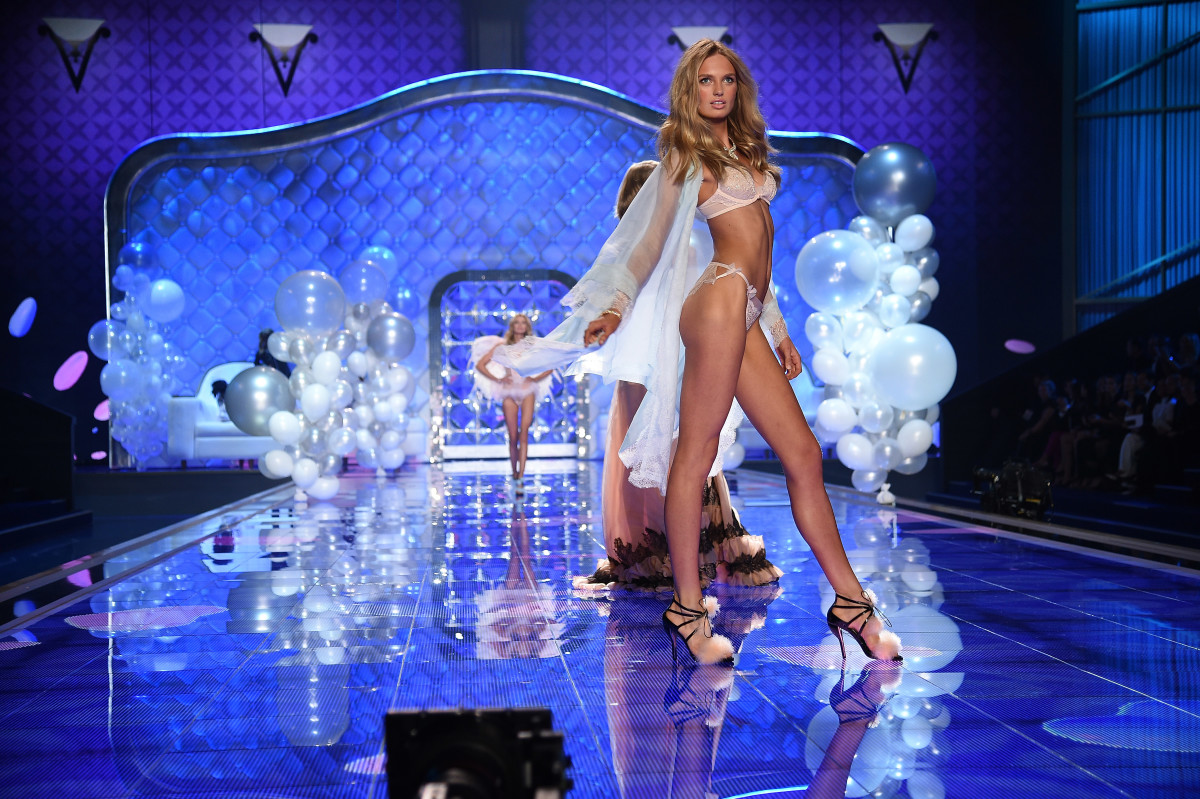Romee Strijd at the 2014 Victoria's Secret Fashion Show. Photo: Dimitrios Kambouris/Getty Images