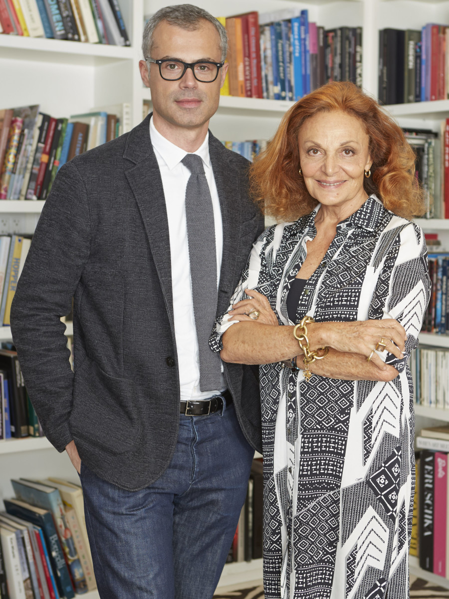 Riva and Von Furstenberg. Photo: DVF
